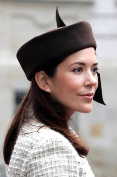 2004--Crown Princess Mary Of Denmark Attends The Opening Of The Danish Parliament In Copenhagen