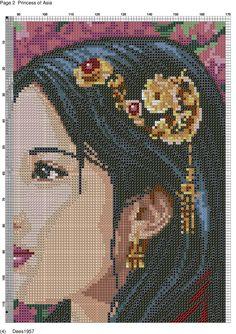Lady x-stitch 1 of 2