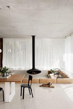 Style File: Sunken Living Room | Erika Carlock | Bohemian Lifestyle Blog Sunken Living Room, Living Room Modern, Living Rooms, House Rooms, Conversation Pit, Home Designer, Room Planner, Floor To Ceiling Windows, Lounge Areas