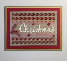 Another cross stitch card using Paper Smooches die & wooden shape coloured with Distress Oxide ink