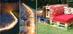 21 Ideias que vão transformar o jardim/quintal da sua casa em um lugar criativo e aconchegante