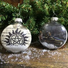 Handmade Supernatural Ornaments Make your Christmas tree pop with these Supernatural inspired ornaments This is for a single ornament so choose from Musical or Winter 80mm round plastic disk ornament