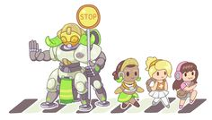 This is just to cute! Overwatch Orisa main in the house!!