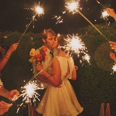 Sparklers - photo by: Our Labor Of Love Event Planning: Ashley Baber Weddings Location: Barnsley Gardens Resort Decorations: amy osaba event.floral.design