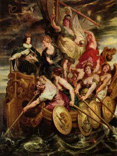 """""""Cycle de Marie de Médicis: La Majorité de Louis XIII"""" by Sir Peter Paul Rubens (1621-1625) @ Musée du Louvre, Paris, France"""