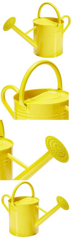 Watering Cans 20547: Vintage Watering Can Yellow 2 Gallon Galvanized Indoor Outdoor Garden Utility -> BUY IT NOW ONLY: $45.25 on eBay!