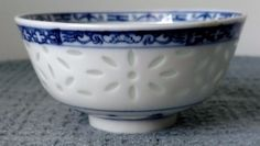3 Lovely DECORATIVE PORCELAIN BOWLS ~ Asian Influence ~ Blue and White