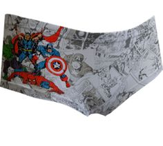 WebUndies.com Marvel Comics Avengers Comic Strip Hipster Panty