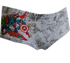 WebUndies.com Marvel Comics Avengers Comic Strip Hipster Panty