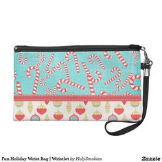 Fun Holiday Wrist Bag | Wristlet #zazzle #Christmas #holiday