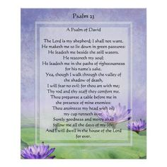 You are browsing through Zazzle's psalm 23 gifts section where you can find many styles, sizes and colours of customisable psalm 23 t-shirts, mugs, posters, bumper stickers and mcuh more. Description from zazzle.com.au. I searched for this on bing.com/images