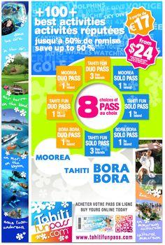 8 PASS from 17€ (about $24) !!  100+ offers on activities Bora Bora Tahiti Moorea