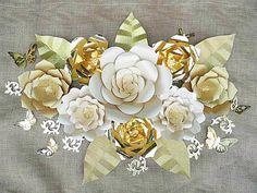 Patrones de flores de papel gigantes y por CatchingColorFlies