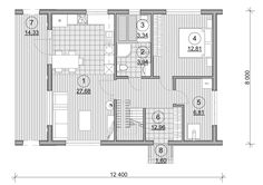 Проект каркасного дома TRUMP 155 кв.м. http://www.ekonia.ru  The project of frame house TRUMP 155m2 plan 1