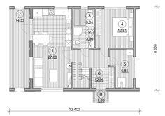 Проект каркасного дома TRUMP 155 кв.м. http://www.ekonia.ru  The project of frame house TRUMP 155m2 plan 1