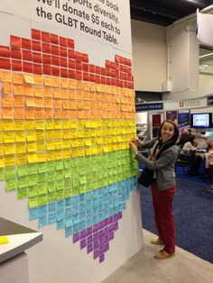3M's Post-It 'Partner for Pride' Wall at ALA Annual, SF