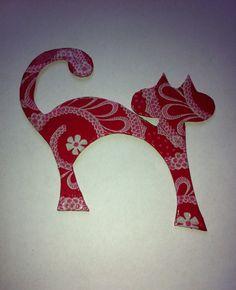 Red Cat Fridge Magnet #etsy, #MoggysMall, #cat, #red, #fridge magnet, #decopatch