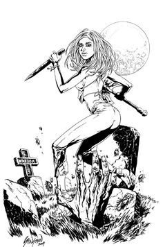 Buffy art of adam braun buffy pinterest for Buffy coloring pages