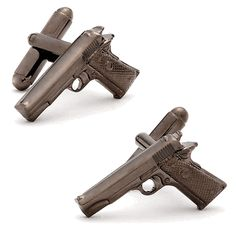 Gunmetal 1911 Colt Cufflinks