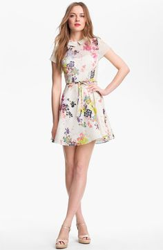 Floral print for the garden: Ted Baker London Print Fit & Flare Dress at Nordstrom
