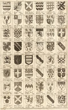 Arms of knights of the Garter. 285-332, 'Arms of knights of the Garter', Wenceslas Hollar, 1672-1677.