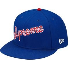 Supreme #1 Denim Script New Era Caps