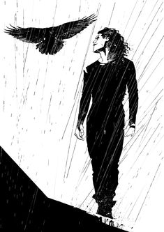 ArtStation - The Crow, Paolo Traisci Dark Fantasy Art, Dark Art, Crows Drawing, Crow Movie, Dark Drawings, Crow Art, Arte Dc Comics, Gothic Art, Dark Horse