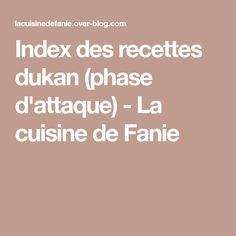 Index des recettes dukan (phase d'attaque) - La cuisine de Fanie