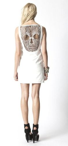 Ladies Skull Lace Back Dress