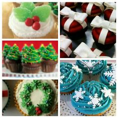 Christmas cupcakes (the wreath is REALLY cute!)