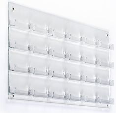 Amazing offer on Business Card Holder, 24 Pockets, Wall Mount, Deep Pockets online - Togreatshop Pegboard Display, Display Shelves, Leather Business Card Holder, Business Card Holders, Business Card Displays, Business Cards, Postcard Display, Cute Office Supplies, Wall Mount Rack