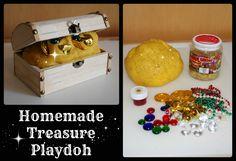 Homemade Treasure Playdoh made by Onetimethrough.com