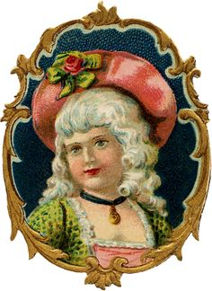 Vintage Colonial Girl Image - Pretty! - The Graphics Fairy