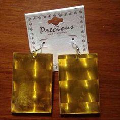 Yellow block earrings New Jewelry Earrings