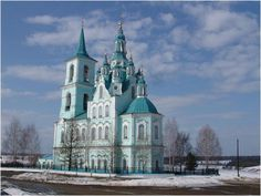Transfiguration Church at Nizhnyaya Sinyachikha, about 15 km from Alapayevsk in the Diocese of Ekaterinburg