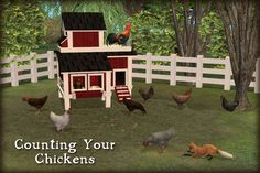 A place for your chickens to roost and a way to make gathering eggs easy.