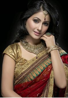 Hina Khan Bollywood Designer and Party Wear SareeTNGTM-56 - Craft Shops India