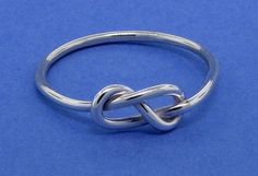Infinity knot figure 8 sterling silver ring friendship love promise commitment purity ring 16 gauge on Etsy, $24.60