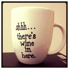 I think I would use one of these!! Wine Mug by BellissimaMugs on Etsy, $23.00