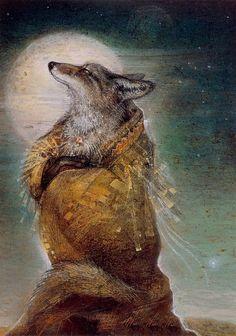 Wolf Warrior by Susan Seddon Boulet (1941-1997)