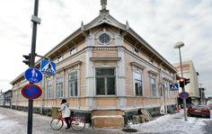 corner of Torikatu and Saaristonkatu, Oulu, Finland Scandinavian Home, Finland, Contemporary Design, Landscapes, Corner, Street View, Houses, Traditional, Architecture