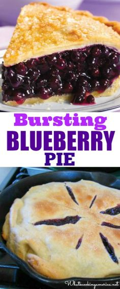 Homemade Blueberry Pie Recipe & video tutorial  |  whatscookingamerica.net  |  #blueberry #pie #4thofjuly