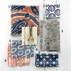 Southern Made Fabrics (lots of navy and neutrals) especially love the Block & Bryaer prints as well as Michelle Nussbaumer