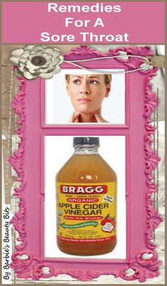 Apple cider vinegar & other natural remedies for a sore throat, by Barbie's Beauty Bits.