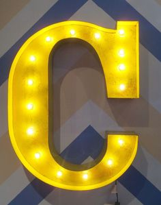 Caden Lane Baby Bedding - Vintage Marquee Lights Wall Letter, $262.95 (http://cadenlane.com/vintage-marquee-lights-wall-letter/)