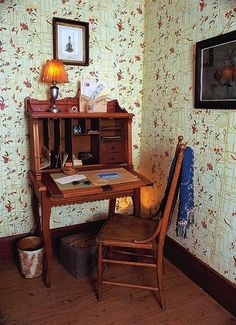 Laura Ingalls Wilder wrote at this desk in her Mansfield, Mo., home. It was the last house she lived in.