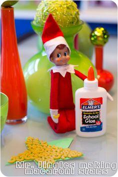 Elf on the Shelf macaroni star