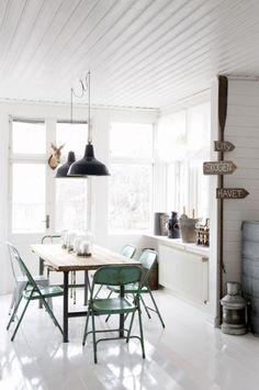 amazing Scandinavian Dining Room Design Ideas Brick Walls – Home Interior and Design Design Room, Dining Room Design, Home Design, Dining Area, Design Ideas, Dining Tables, Kitchen Dining, Nice Kitchen, Big Design