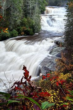 Dupont State Forest Photograph - Triple Falls - Nc Autumn Outdoors by Rob Travis Nc Waterfalls, Beautiful Waterfalls, Beautiful Landscapes, Beautiful World, Beautiful Places, Beautiful Pictures, Places To Travel, Places To See, Dupont State Forest