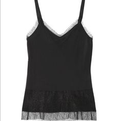 """Tag and bone silk and lace """"maya"""" camisole Black lace camisole. silk body. Size medium. In like new condition. Sold out- retailed at $395 rag & bone Tops Camisoles"""